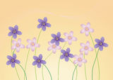 Flower background. Abstract beautiful flower background illustration stock illustration