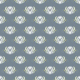 Abstract beautiful flowers on gray background seamless pattern vector illustration. (vector eps 10 Stock Image