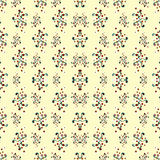 Abstract beautiful flowers on a light background seamless pattern vector illustration Stock Photo