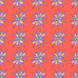 Abstract beautiful flowers on pink background seamless pattern vector illustration Royalty Free Stock Images