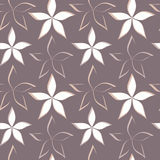 Abstract beautiful flowers seamless pattern on purple background texture illustration Royalty Free Stock Photo