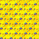 Abstract beautiful gentle seamless pattern on a yellow background Stock Image
