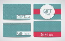 Abstract Beautiful Gift Card Design Set, Vector Stock Photo