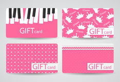 Abstract Beautiful Gift Card Design Set, Vector Royalty Free Stock Images