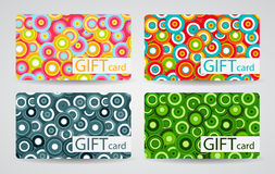 Abstract Beautiful Gift Card Design Set, Vector Royalty Free Stock Photography