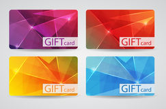 Abstract Beautiful Gift Card Design Set, Vector. Illustration. EPS10 Stock Photo