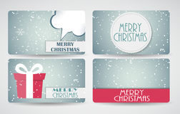Abstract Beautiful Gift Card Design Set, Vector Illustration. Royalty Free Stock Images