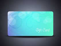 Abstract beautiful gift card design Stock Images