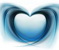 Abstract beautiful heart Stock Images
