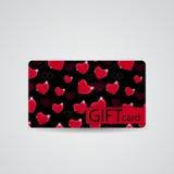 Abstract Beautiful Heart Gift Card Design, Vector Stock Photos