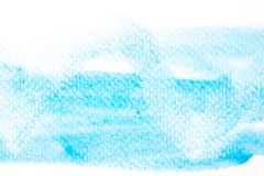 Abstract beautiful light blue watercolor and texture  on Royalty Free Stock Photography