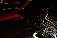 Abstract beautiful light painting photography, waves abstract light on black background. Slow shutter speed and blur-defocus technique royalty free stock photo
