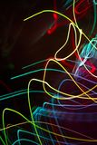 Abstract beautiful light painting photography, waves abstract light on black background. Slow shutter speed and blur-defocus technique royalty free stock photos