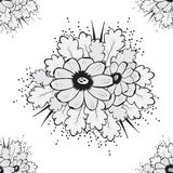 Abstract Beautiful Seamless pattern with flower Royalty Free Stock Photo