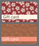 Abstract beautiful set of gift card design Royalty Free Stock Images