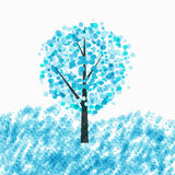 Abstract Beautiful Winter Tree Background Vector Illustration Royalty Free Stock Photos