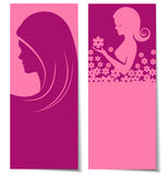 Abstract beautiful women card Royalty Free Stock Images