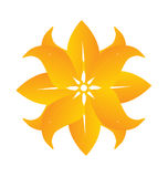 Abstract beautiful yellow flower logo Stock Photography