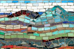 ABSTRACT- Beautifully Colorful Mosiac Tile Design royalty free stock image