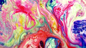 Abstract beauty of art ink paint explode colorful fantasy spread. Video stock video