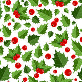 Abstract Beauty Christmas Berry Seamless Pattern Royalty Free Stock Image