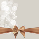 Abstract Beauty Christmas and New Year Background with Bow Ribbo Stock Images
