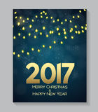 Abstract Beauty Christmas and 2017 New Year Background. Vector I. Llustration. EPS10 Stock Photos