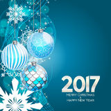 Abstract Beauty Christmas and 2017 New Year Background. Vector I. Llustration. EPS10 Royalty Free Illustration