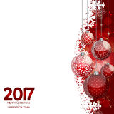 Abstract Beauty Christmas and 2017 New Year Background. Vector I. Llustration. EPS10 Stock Illustration