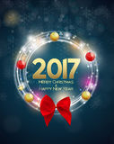 Abstract Beauty Christmas and 2017 New Year Background. Vector I. Llustration. EPS10 Vector Illustration