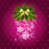 Abstract beauty Christmas and New Year background. Vector illustration royalty free illustration