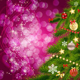 Abstract beauty Christmas and New Year background. Vector illustration Royalty Free Stock Photo