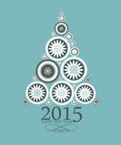 Abstract Beauty Christmas and New Year 2015. 2015 Abstract Beauty Christmas and New Year Background. Vector Illustration royalty free illustration