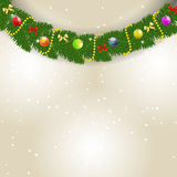 Abstract beauty Christmas and New Year background. Vector illustration Stock Photos