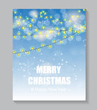 Abstract beauty Christmas and New Year background. Vector Illustration EPS10 Stock Photos