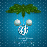 Abstract Beauty Christmas and New Year Background. Vector Illustration. EPS10 royalty free illustration