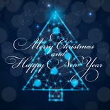 Abstract beauty Christmas and New Year background Royalty Free Stock Photos