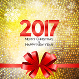 Abstract Beauty Christmas and 2017 New Year Background. Vector Illustration. EPS10 vector illustration