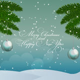Abstract Beauty Christmas and New Year Background. Vector Illustrationr royalty free illustration