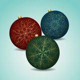 Abstract beauty Christmas and New Year balls. Stock Photography