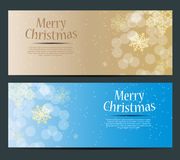 Abstract beauty Christmas and New Year banner. Vector illustration Stock Photos