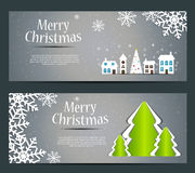 Abstract beauty Christmas and New Year banner. Vector illustration Royalty Free Stock Photos
