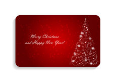 Abstract Beauty Christmas and New Year Card Vector Royalty Free Stock Photo