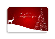 Abstract Beauty Christmas and New Year Card Vector Royalty Free Stock Images