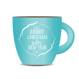 Abstract Beauty Christmas and New Year Cofee Cup Royalty Free Stock Images