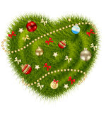 Abstract beauty Christmas and New Year heart. Royalty Free Stock Photography