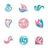 Abstract beauty icons for corporate identity Royalty Free Stock Photo