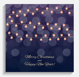 Abstract Beauty Merry Christmas and New Year Background with Mul Royalty Free Stock Image