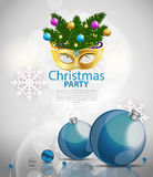 Abstract Beauty Merry Christmas and New Year Party Background. With Masquerade Carnival Mask. Vector illustration EPS10 Royalty Free Stock Photos
