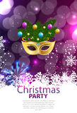 Abstract Beauty Merry Christmas and New Year Party Background. With Masquerade Carnival Mask. Vector illustration EPS10 Royalty Free Stock Image